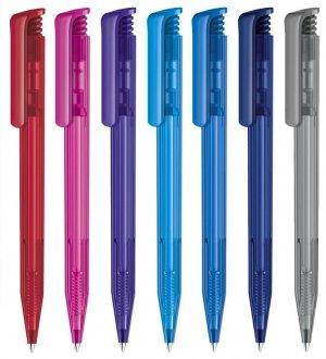 Le stylo à bille Super Hit Clear à personnaliser disponible en 15 coloris.