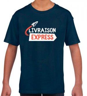 Le t-shirt enfant en livraison express en coloris Navy