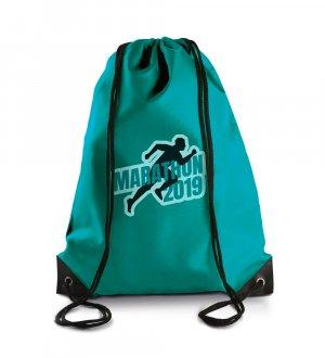 Le sac à dos avec cordelettes KI0104 à personnaliser en coloris Turquoise