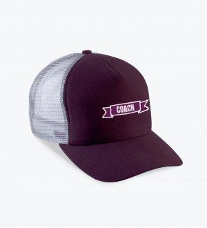 La casquette KP137 à personnaliser en coloris Burgundy / Light Grey