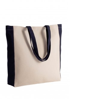 Le sac cabas bicolore KI0275 à personnaliser en coloris Natural / Black