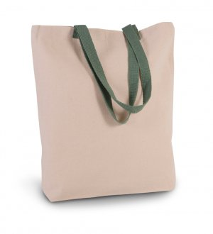 Le sac KI0278 à personnaliser en coloris Natural / Dusty Light Green