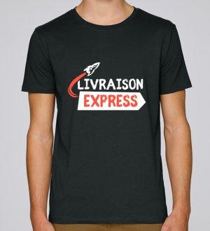 Le t-shirt bio à personnaliser livraison express en coloris Black