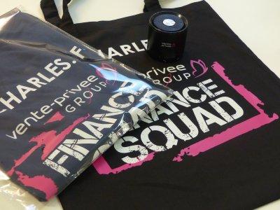 Kit de communication tote bag / enceinte connectée / t-shirt pour le groupe Vente Privée - Avec option mise sous blister (disponible sur simple demande)